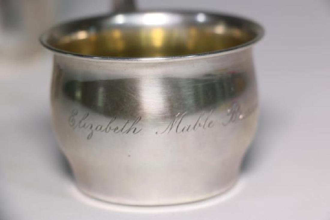 STERLING SILVER BABY CUP & RATTLE GROUPING - 4