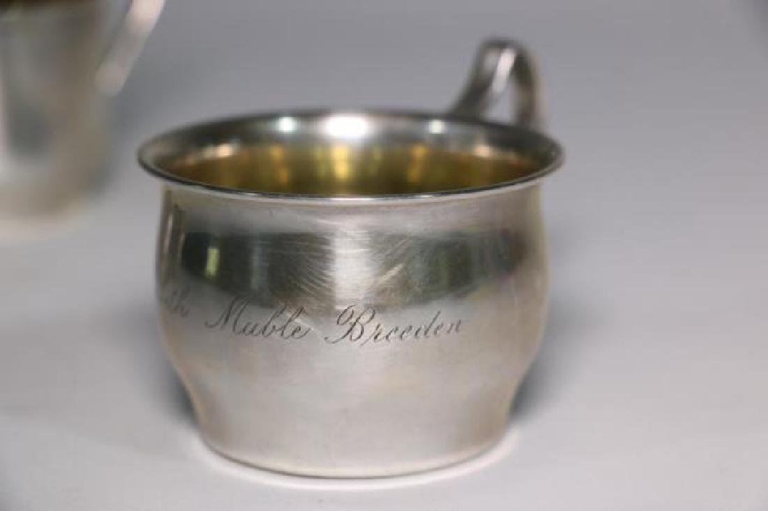STERLING SILVER BABY CUP & RATTLE GROUPING - 5