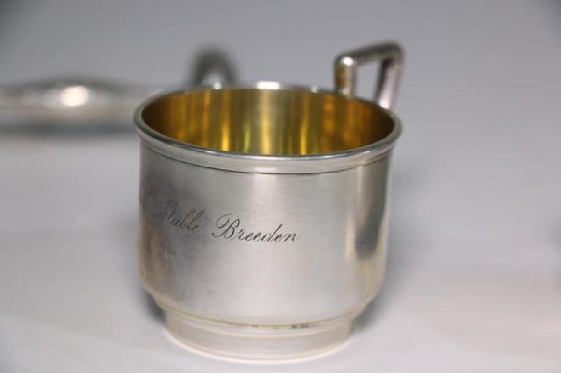 STERLING SILVER BABY CUP & RATTLE GROUPING - 8