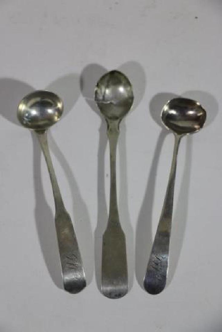 AMERICAN COIN SILVER SPOON GROUPING