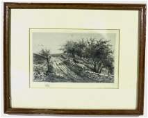 EDITH PENMAN 18601929 ETCHING GEESE ON ROAD