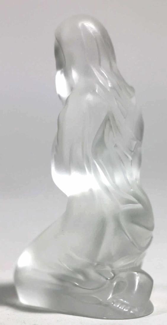 LALIQUE FRENCH ARTGLASS VIRGIN MARY - 4