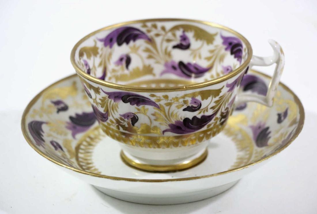 1810 DARBY PORCELAIN TEA CUP & SAUCER - 10