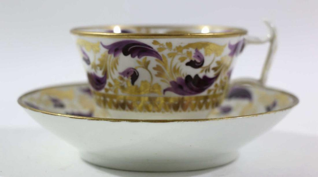 1810 DARBY PORCELAIN TEA CUP & SAUCER - 2