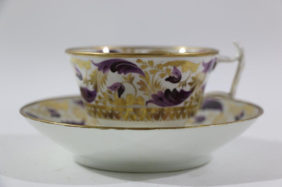 1810 DARBY PORCELAIN TEA CUP & SAUCER - 3