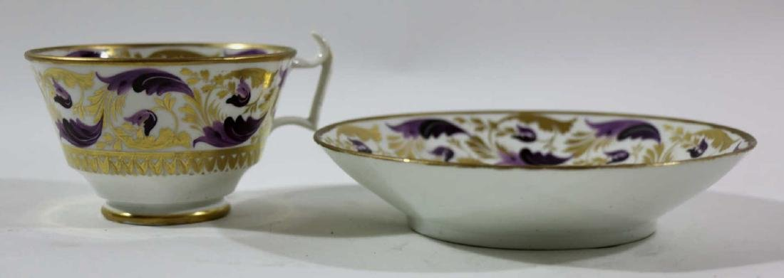 1810 DARBY PORCELAIN TEA CUP & SAUCER - 4