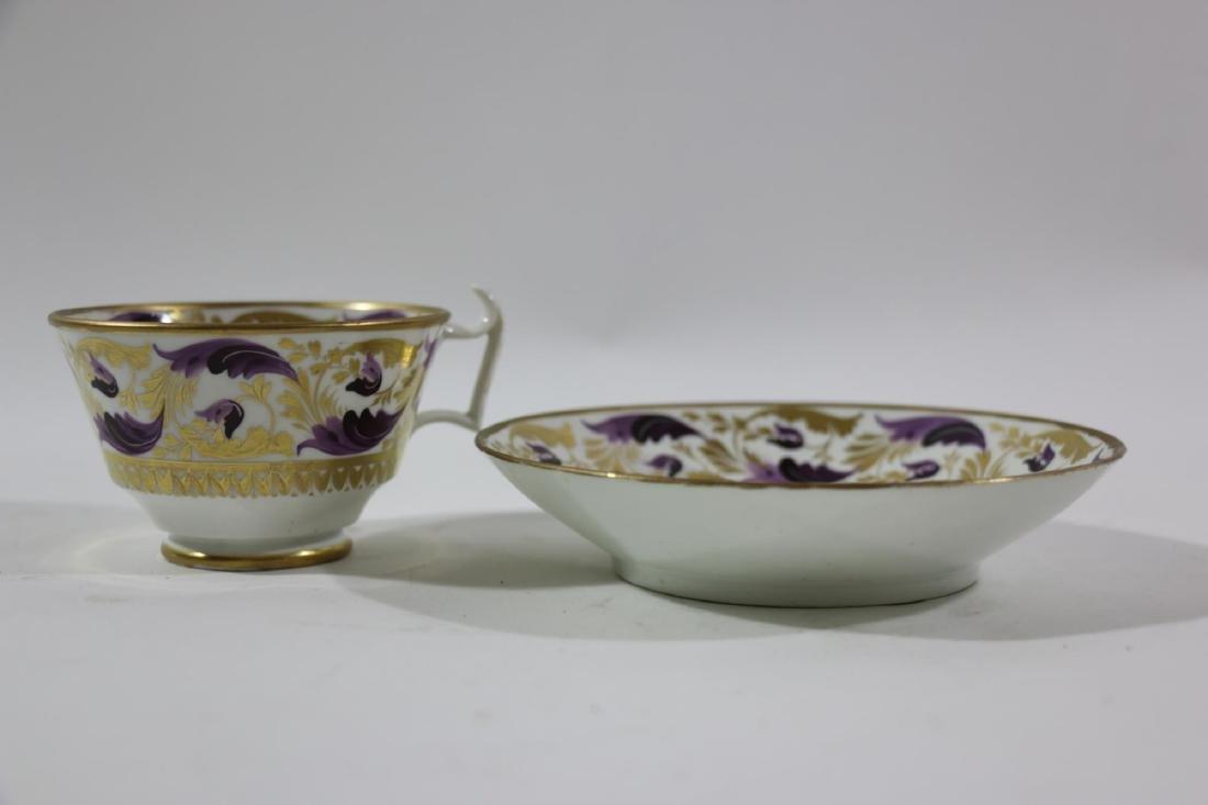 1810 DARBY PORCELAIN TEA CUP & SAUCER - 5