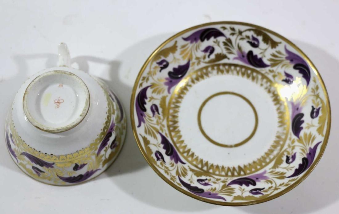 1810 DARBY PORCELAIN TEA CUP & SAUCER - 8