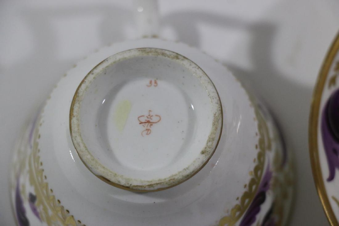 1810 DARBY PORCELAIN TEA CUP & SAUCER - 9