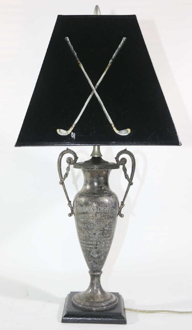 THURMUND CHATHAM TROPHY CUSTOM GOLF MOTIF LAMP