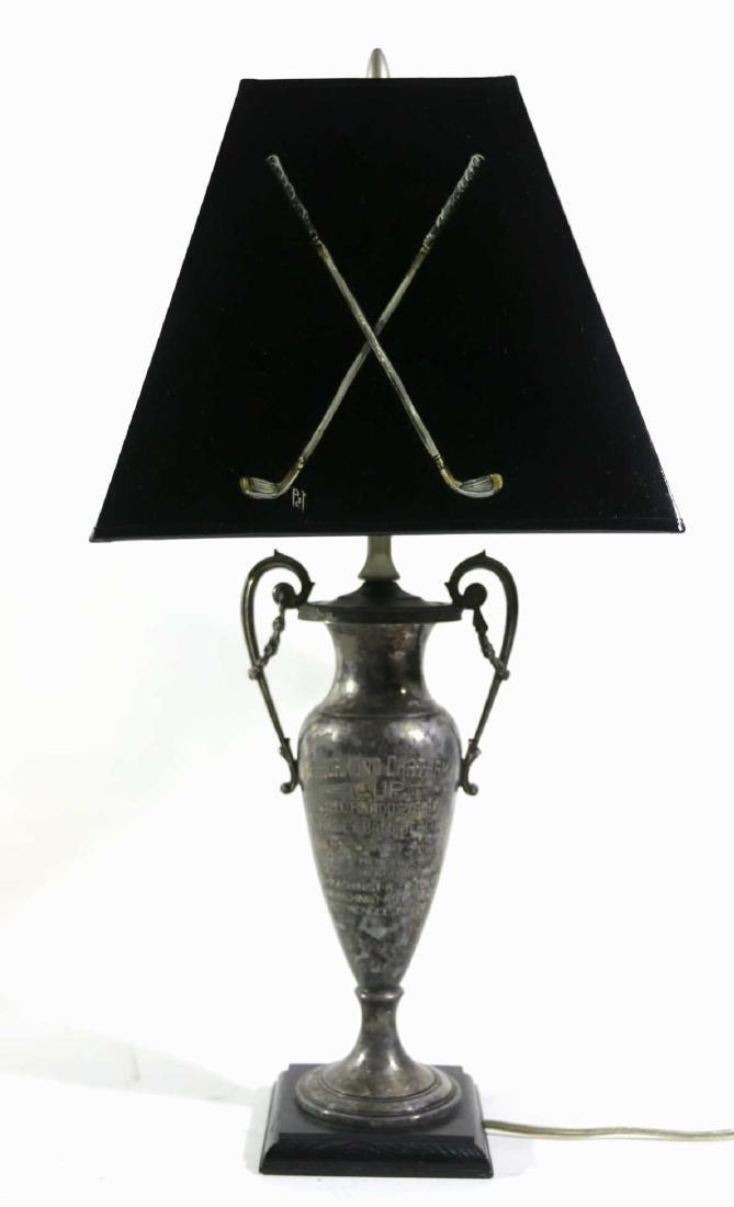 THURMUND CHATHAM TROPHY CUSTOM GOLF MOTIF LAMP - 3