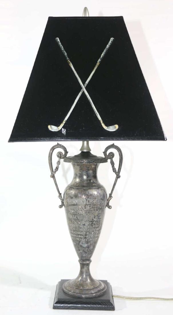 THURMUND CHATHAM TROPHY CUSTOM GOLF MOTIF LAMP - 4