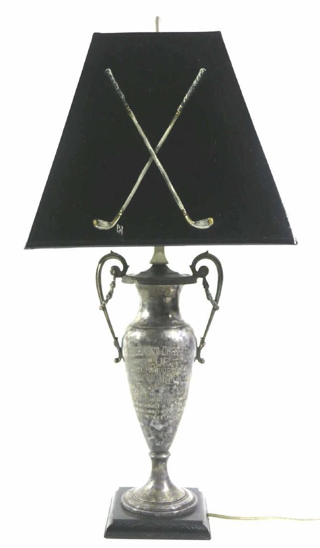 THURMUND CHATHAM TROPHY CUSTOM GOLF MOTIF LAMP - 5