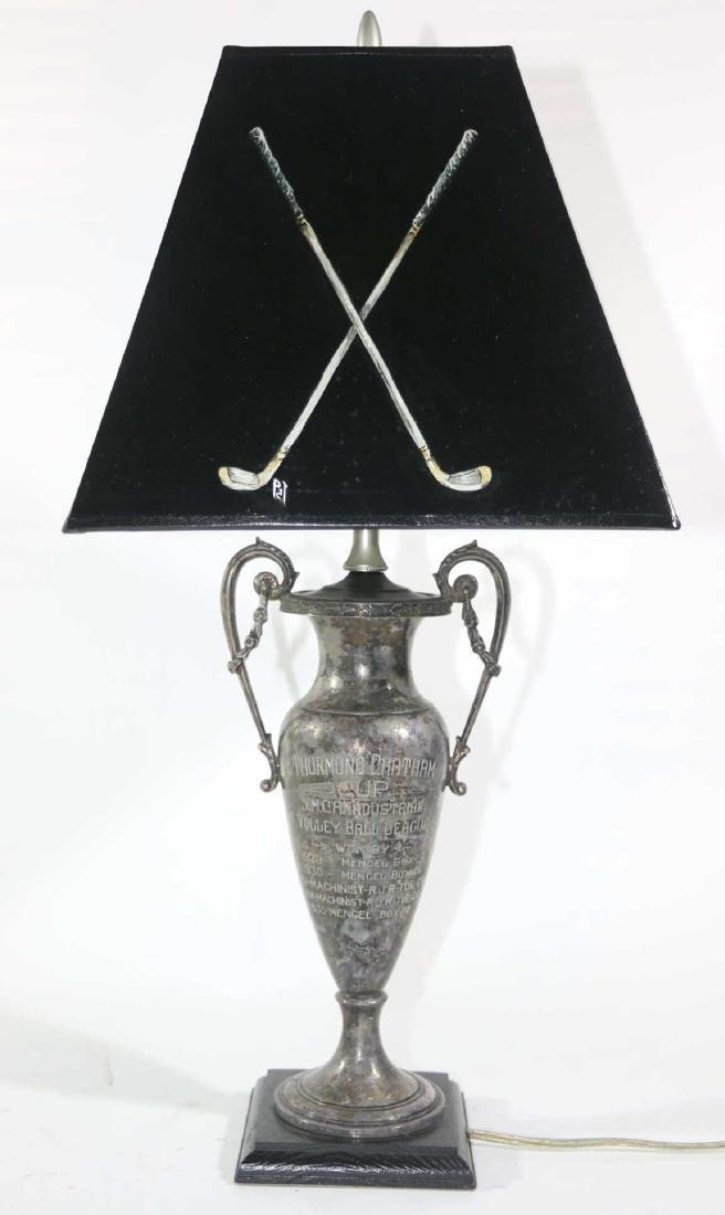 THURMUND CHATHAM TROPHY CUSTOM GOLF MOTIF LAMP - 9