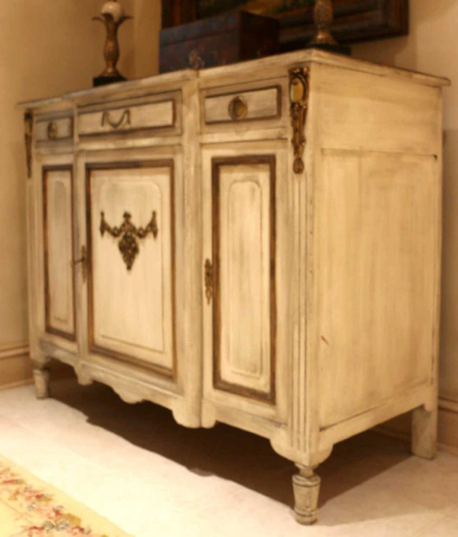 FRENCH ANTIQUE PAINTED DECORATED COMMODE - 5