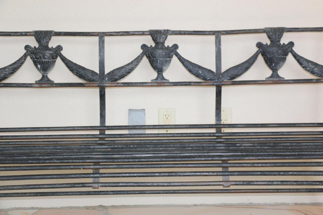FRENCH CAST OUTDOOR BENCH - 5