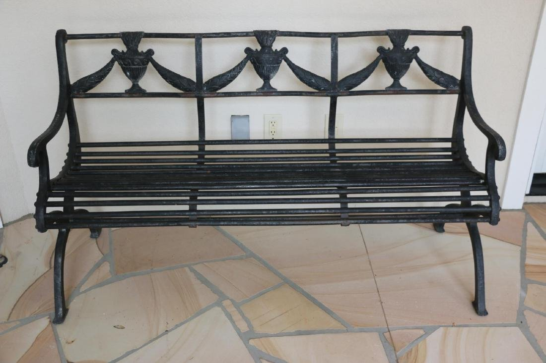 FRENCH CAST OUTDOOR BENCH - 8