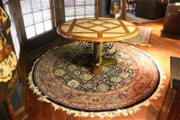 INDO PERSIAN HAND WOVEN ROUND ROOM SIZE RUG