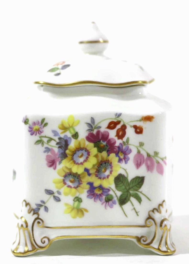 ENGLISH ROYAL CROWN DERBY HAND PAINTED INK WELL