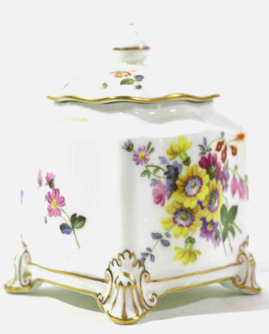 ENGLISH ROYAL CROWN DERBY HAND PAINTED INK WELL - 2