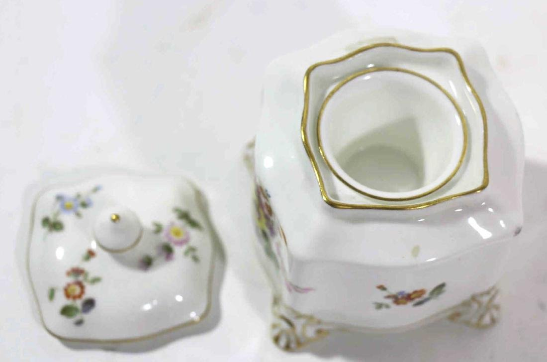 ENGLISH ROYAL CROWN DERBY HAND PAINTED INK WELL - 3