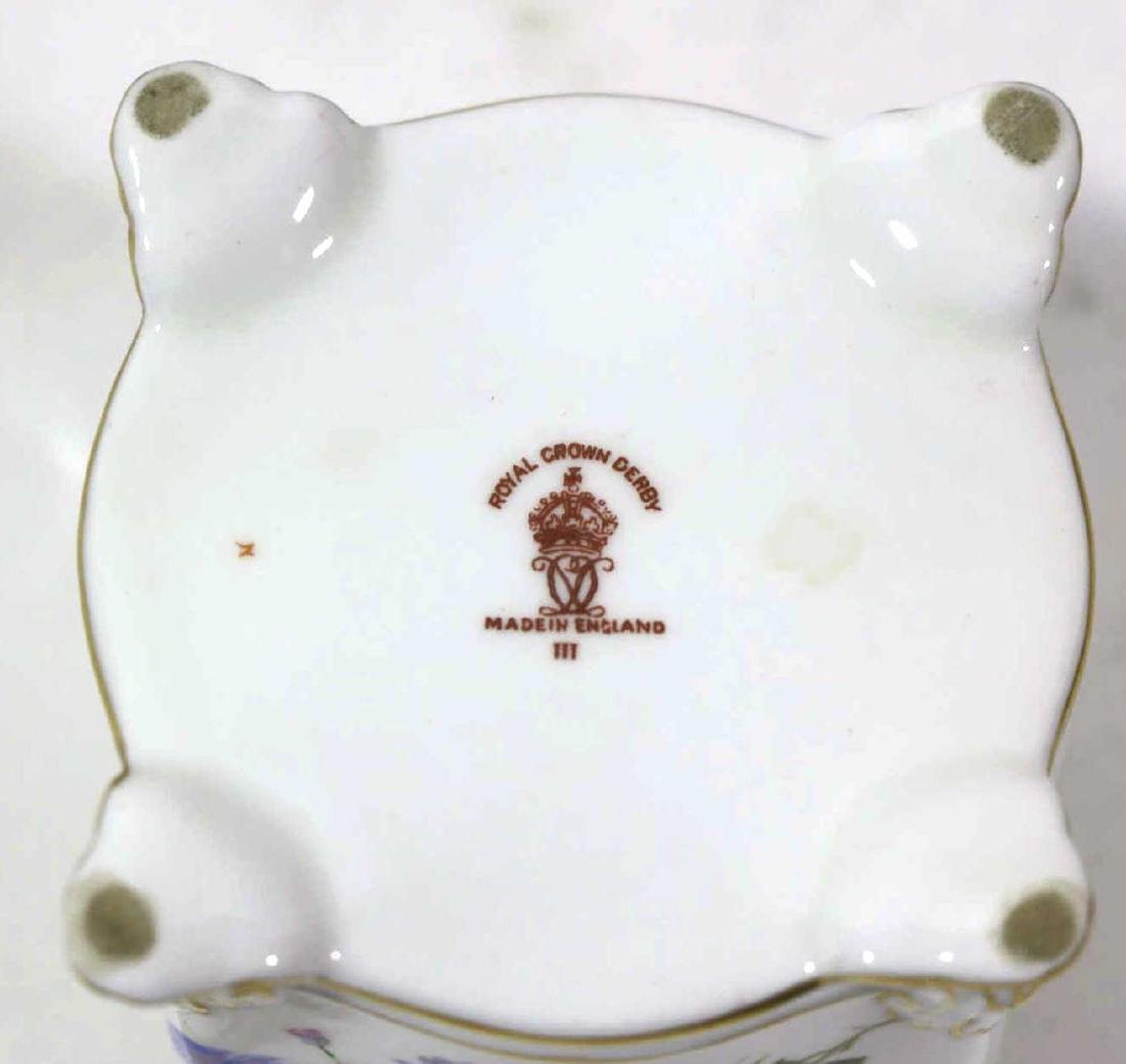 ENGLISH ROYAL CROWN DERBY HAND PAINTED INK WELL - 5