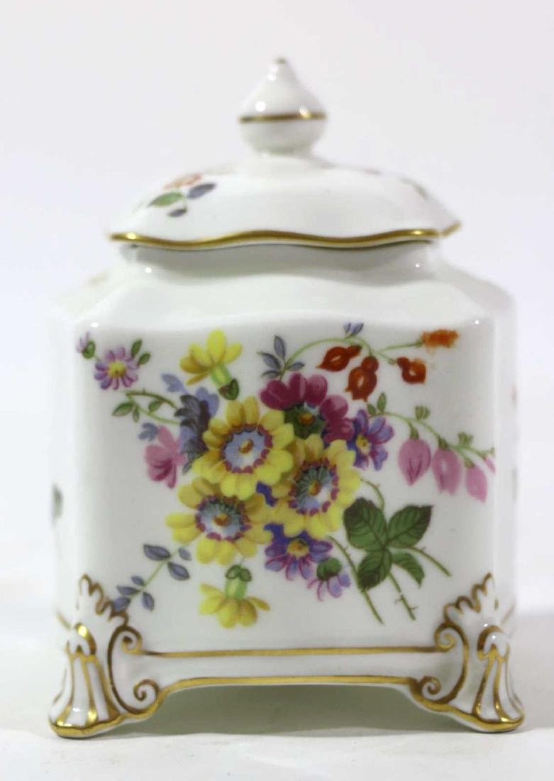 ENGLISH ROYAL CROWN DERBY HAND PAINTED INK WELL - 7