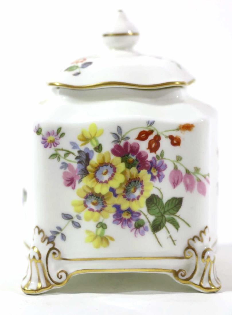 ENGLISH ROYAL CROWN DERBY HAND PAINTED INK WELL - 8