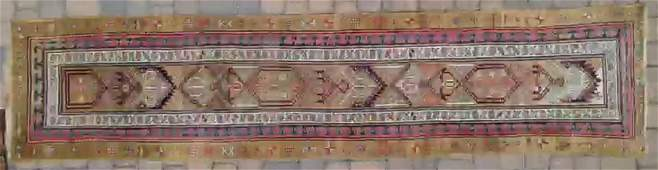 PERSIAN  ANTIQUE HAMADAN HAND WOVEN LONG RUNNER