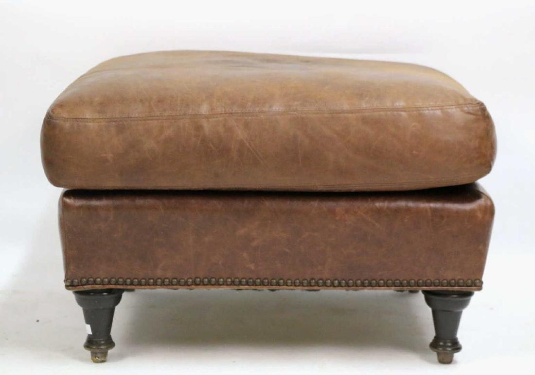 ENGLISH NAIL TRIMMED OVERSIZED OTTOMAN