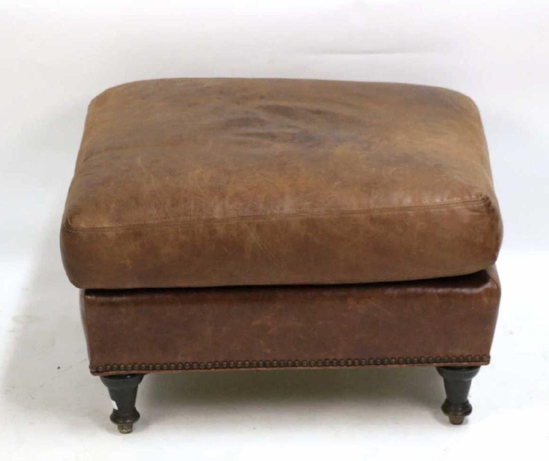 ENGLISH NAIL TRIMMED OVERSIZED OTTOMAN - 2