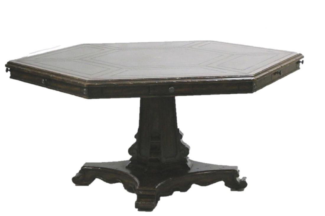 MAITLAND SMITH LEATHER TOP GAME TABLE