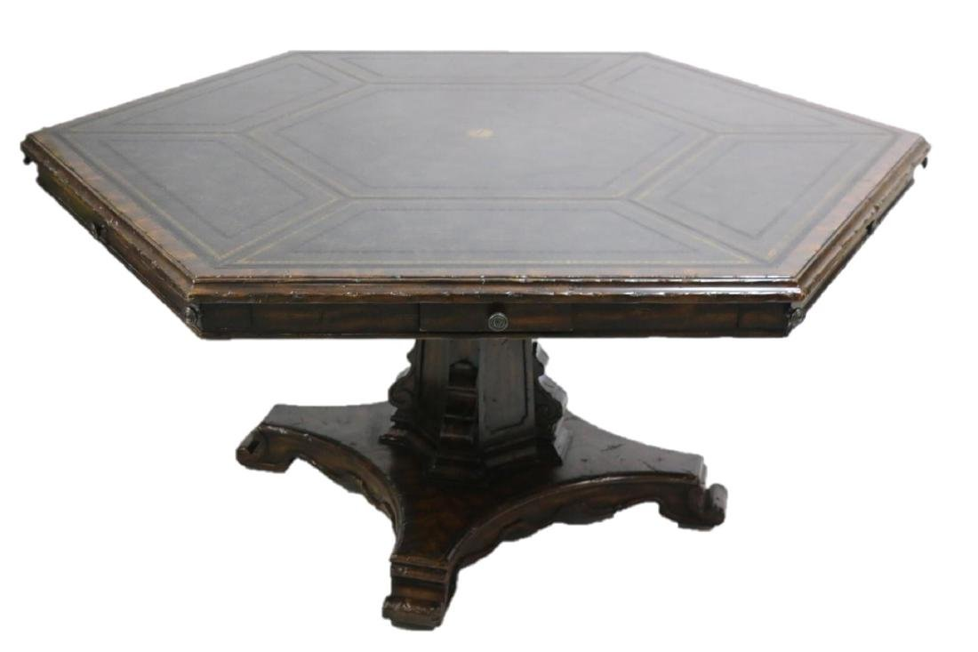MAITLAND SMITH LEATHER TOP GAME TABLE - 2