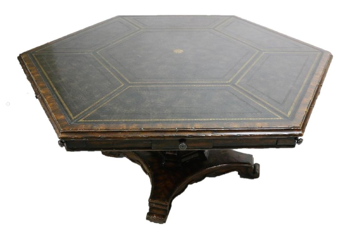MAITLAND SMITH LEATHER TOP GAME TABLE - 3