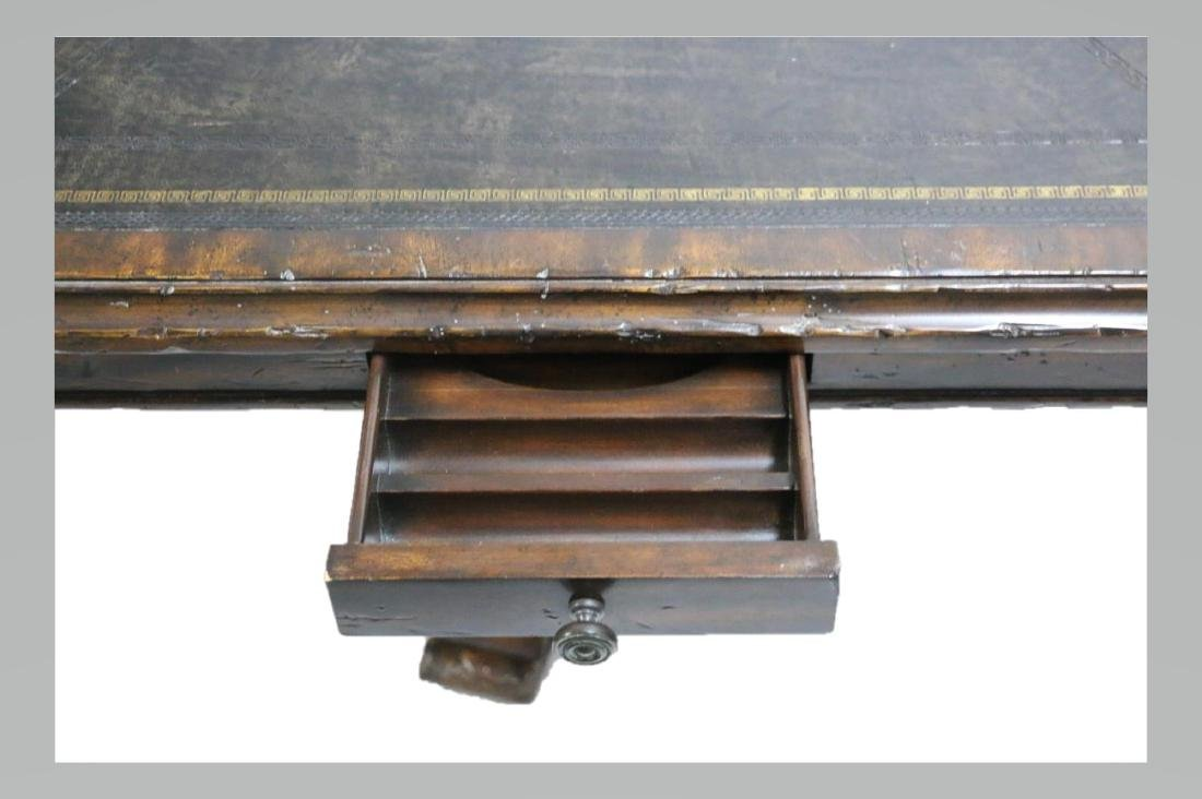 MAITLAND SMITH LEATHER TOP GAME TABLE - 4