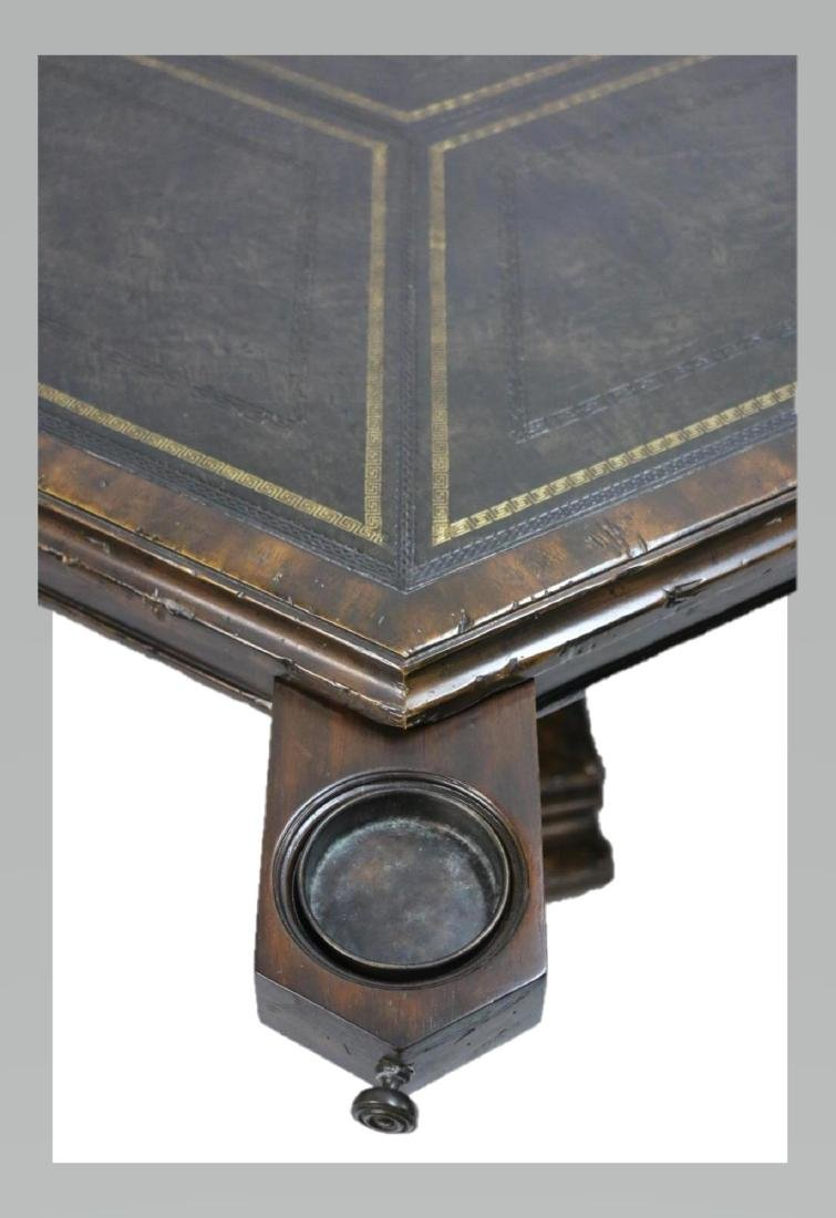 MAITLAND SMITH LEATHER TOP GAME TABLE - 5