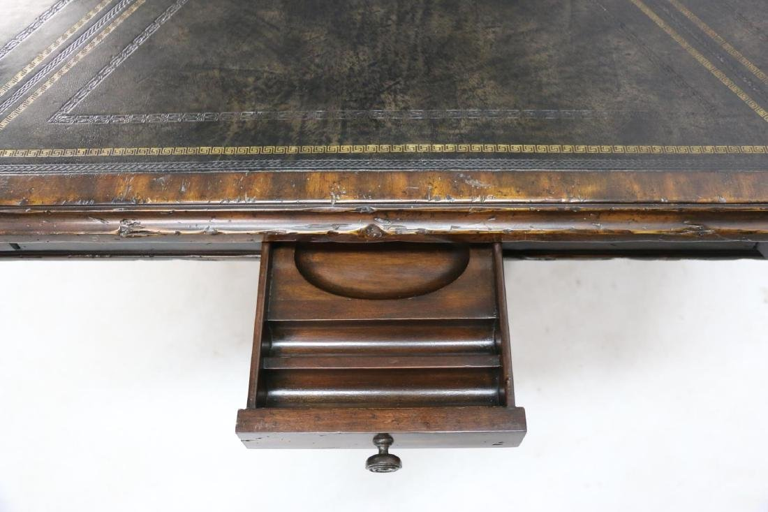 MAITLAND SMITH LEATHER TOP GAME TABLE - 7