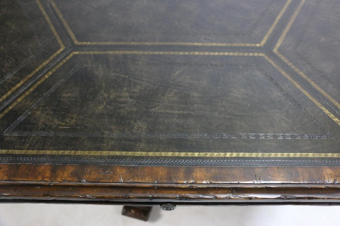 MAITLAND SMITH LEATHER TOP GAME TABLE - 8