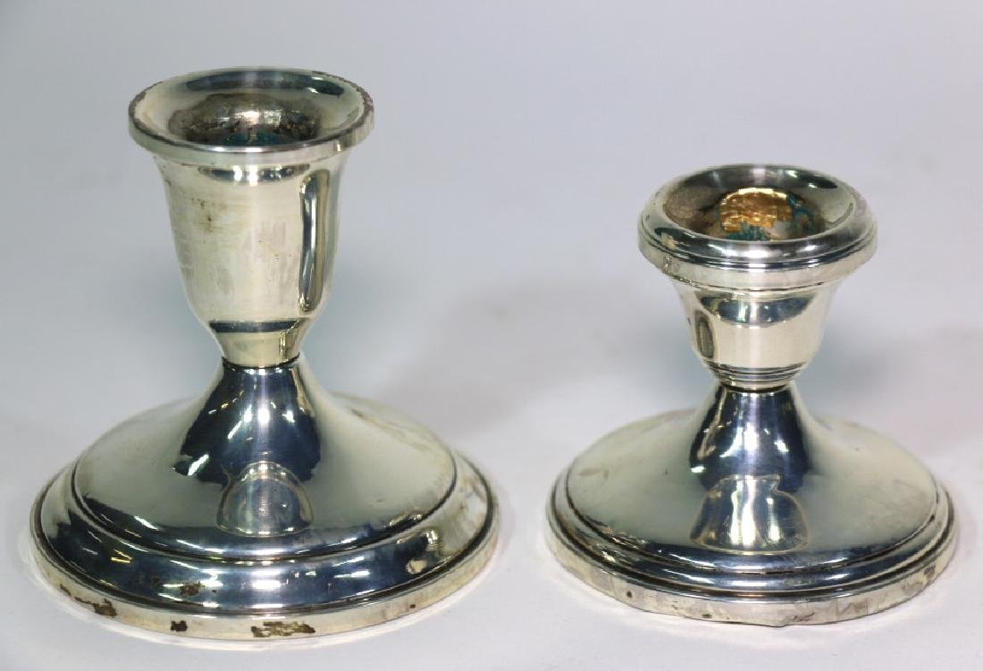 TOWLE STERLING SILVER CANDLE STICKS - 2