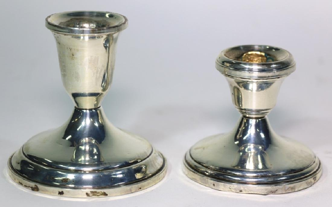 TOWLE STERLING SILVER CANDLE STICKS - 3
