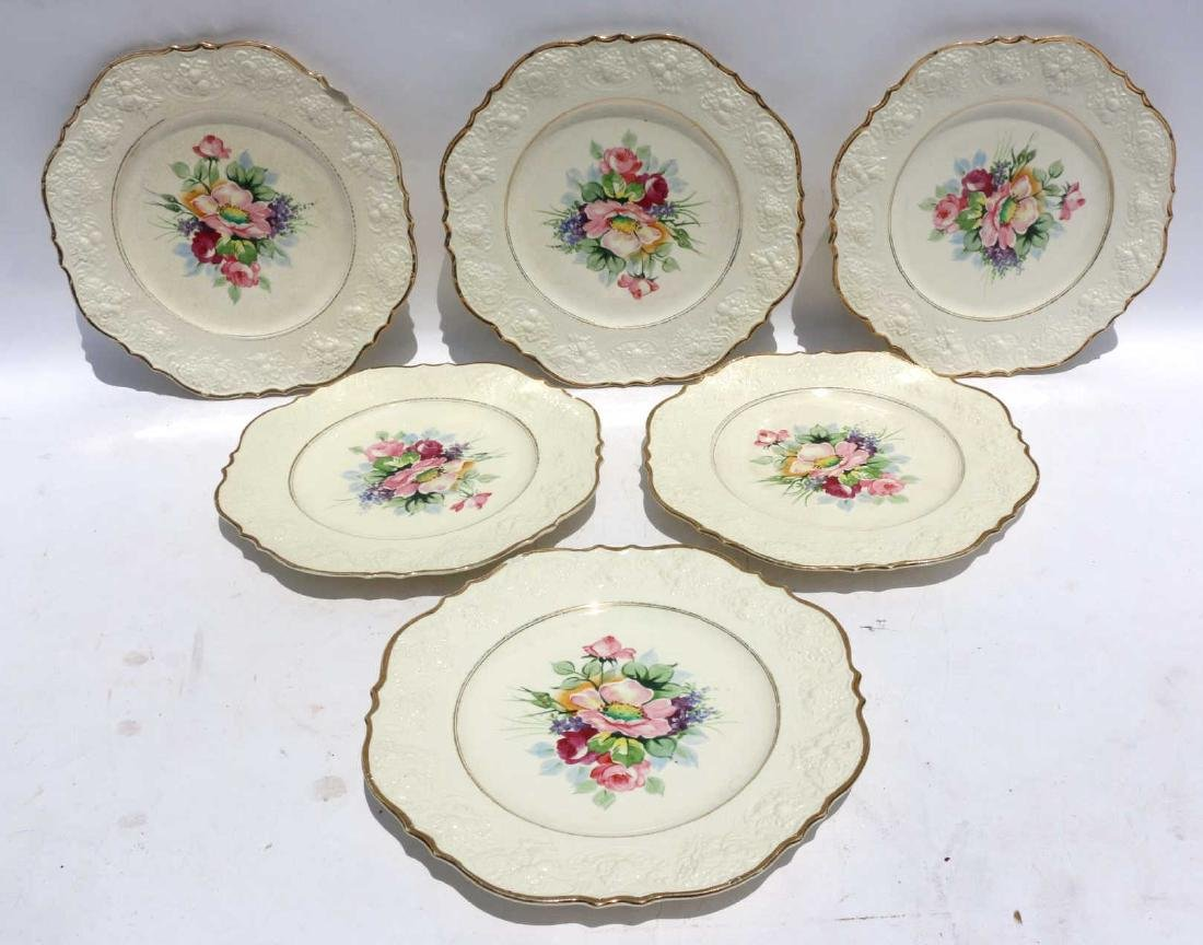 FLORAL PORCELAIN PLATE GROUPING