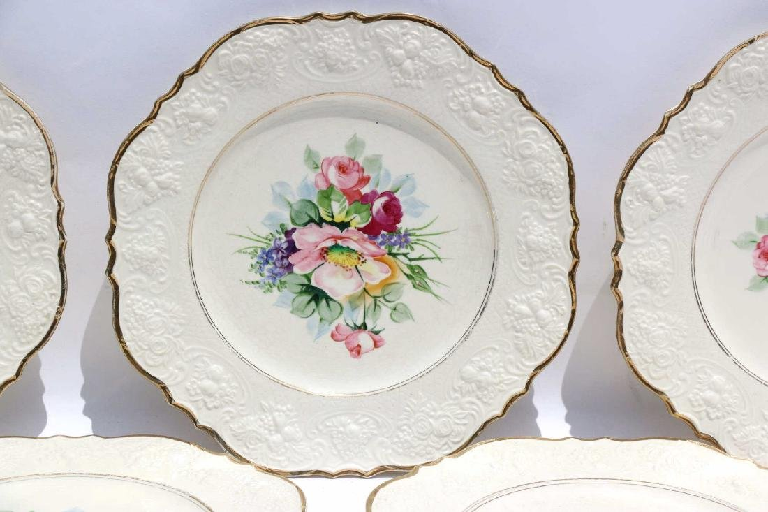 FLORAL PORCELAIN PLATE GROUPING - 2