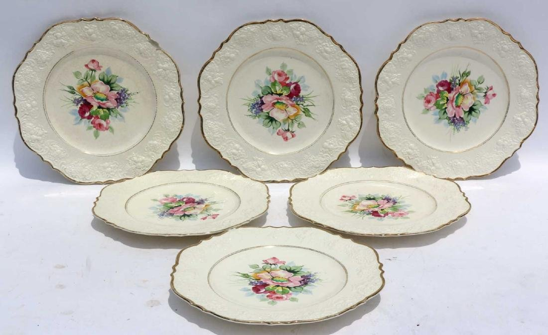 FLORAL PORCELAIN PLATE GROUPING - 3
