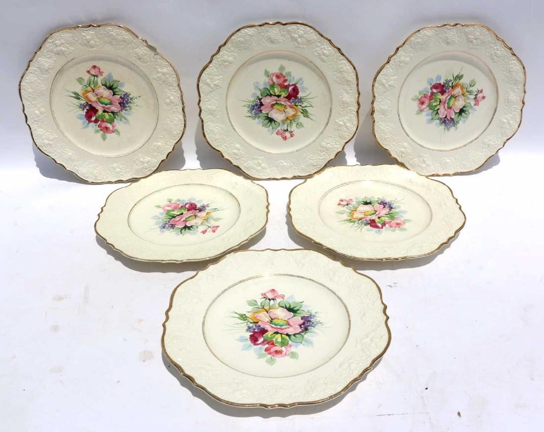 FLORAL PORCELAIN PLATE GROUPING - 4