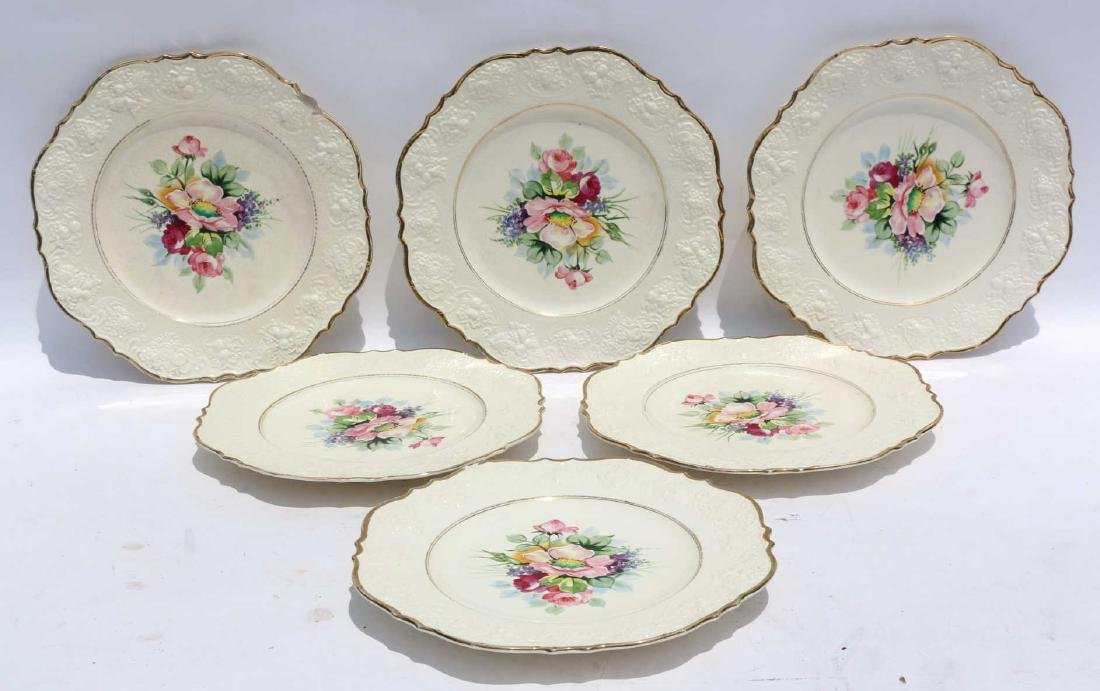 FLORAL PORCELAIN PLATE GROUPING - 5
