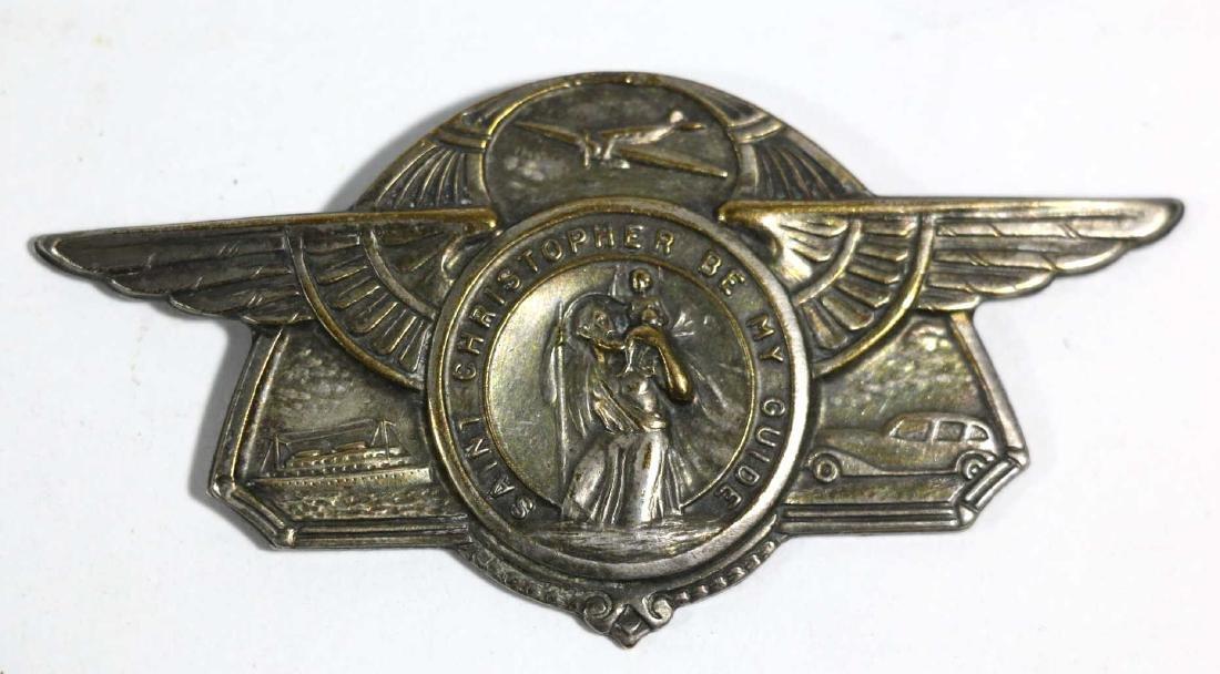 SAINT CHRISTOPHER AIRMANS WINGED EMBLEM