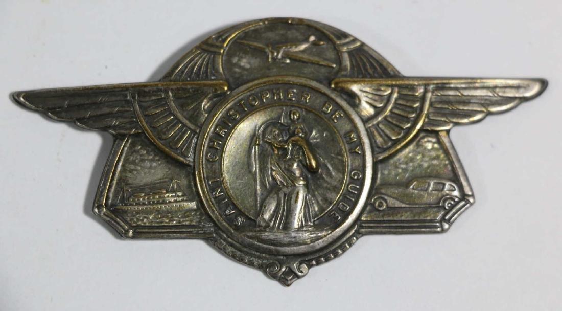 SAINT CHRISTOPHER AIRMANS WINGED EMBLEM - 3