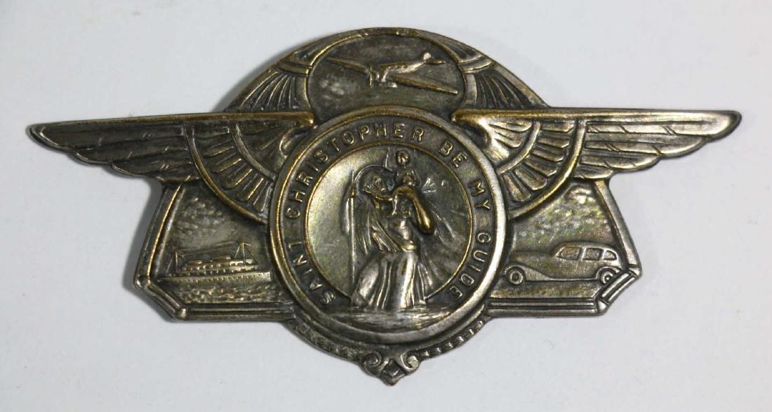 SAINT CHRISTOPHER AIRMANS WINGED EMBLEM - 5