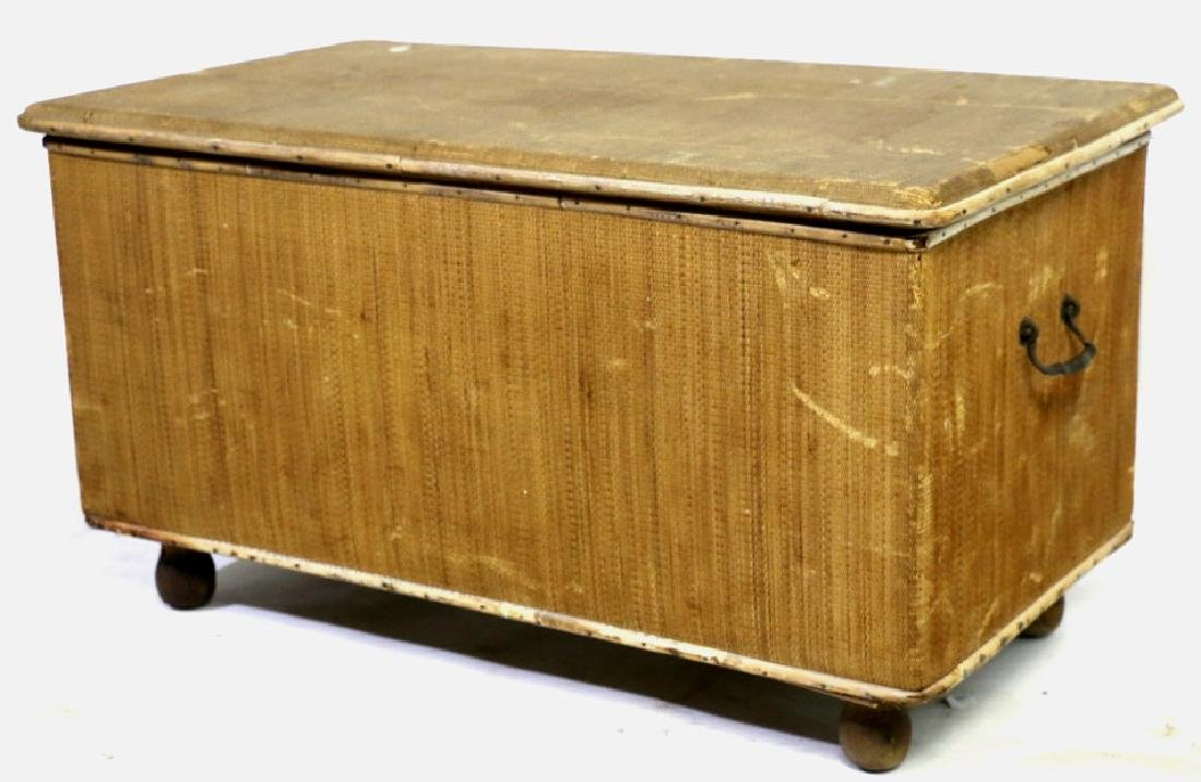 ENGLISH ANTIQUE BAMBOO TRUNK - 2