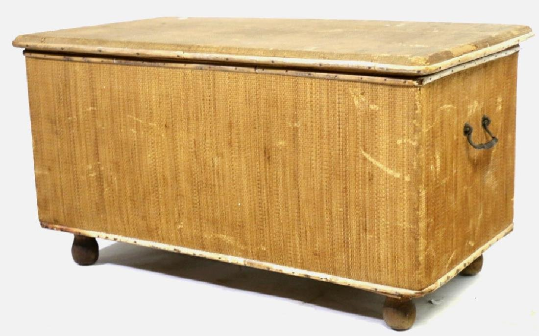 ENGLISH ANTIQUE BAMBOO TRUNK - 5